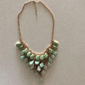 Nordstrom Mint green teardrop gemstone necklace